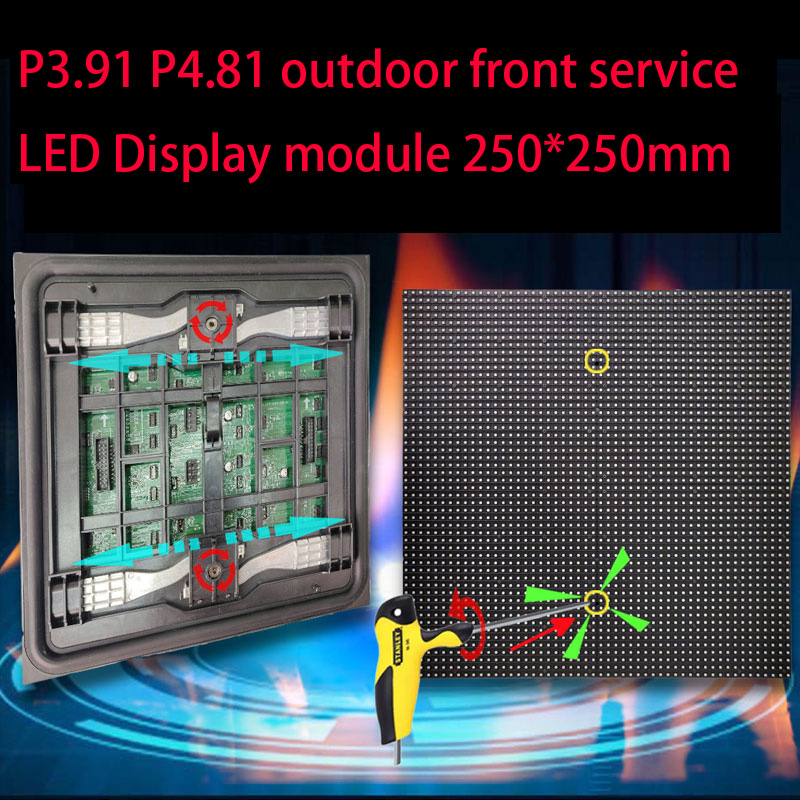 P3.91 P4.81 outdoor front service LED display