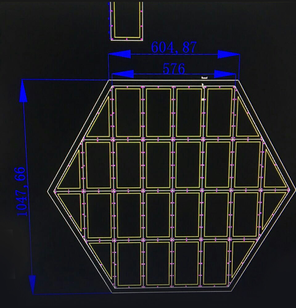 P3 hexagon shape led display