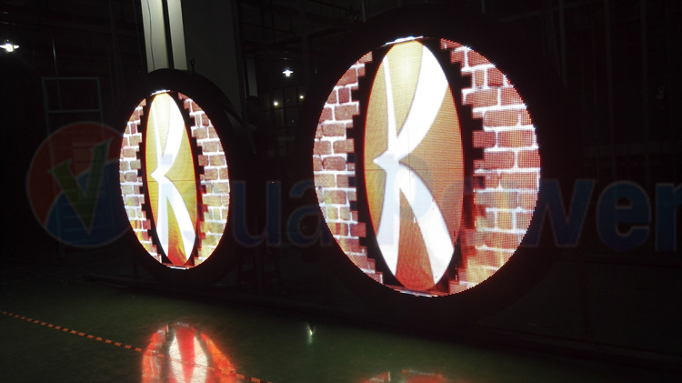 Visualpower round shape led display